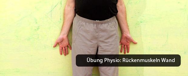 """Übung """"Rückenmuskeln zur Wand"""""""